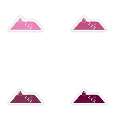 Set of paper stickers on white background roof vector