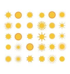 Set of sun vector