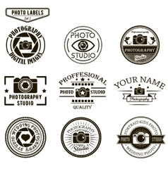 Set photography logo templates photo vector