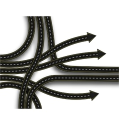 Stylized road junction highway with a marking 3d vector