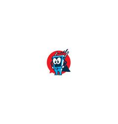 superhero gadget icon logo vector image