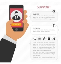Support consultation online vector