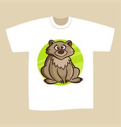 t-shirt print design bear vector image