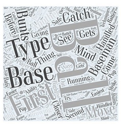 Techniques for the First Baseman Word Cloud vector