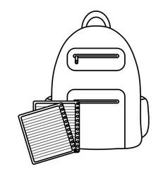 text book school with schoolbag vector image