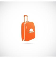 Travel Suitcase Symbol Icon vector image
