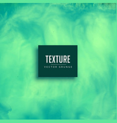 Turquoise watercolor flowing ink texture vector