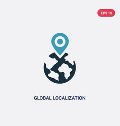Two color global localization icon from vector