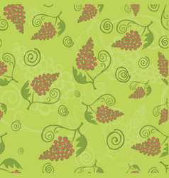Vintage seamless background with grapes vector