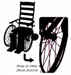 Vintage wheelchair vector