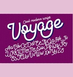 Voyage cool modern script font vector