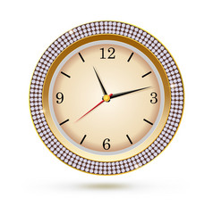 Watch with diamonds on white background icon of vector