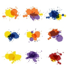 Watercolor hand painted circles set spot vector image