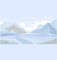 Winter landscape background vector