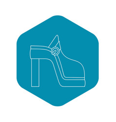women shoe icon outline style vector image