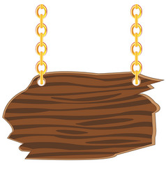 Wooden board on chain vector