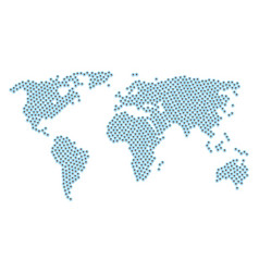worldwide atlas mosaic of rounded arrow icons vector image