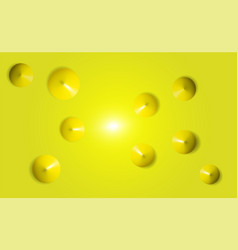 yellow the view from the top 3d render realistic vector image
