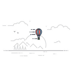 airballoon line vector image
