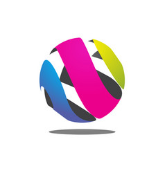 colorful abstract circle logo vector image
