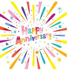 happy anniversary greeting card vector image