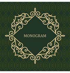 Line frame for monogram vector