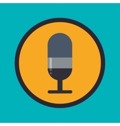 Microphone and radio vector image
