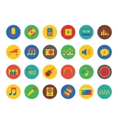 Music Icons Set Sound tools or Dj and vector image vector image