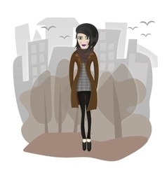 stylish girl vector image vector image
