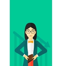 Bancrupt business woman vector image vector image