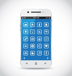 Cellphone apps vector image
