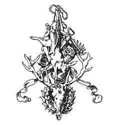 Hunting and fishing symbol was designed by stuck vector
