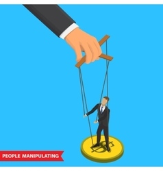 people manipulating vector image