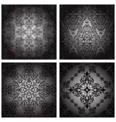 seamless vintage monochrome vector image vector image