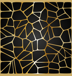 yellow geometric pattern on a black background vector image
