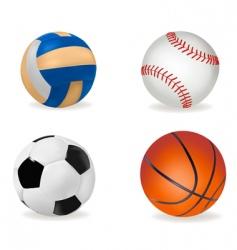 big set of sport balls vector image vector image