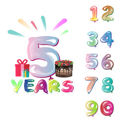 celebration background set of numbers vector image vector image