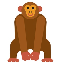 icon chimpanzee monkey vector image vector image