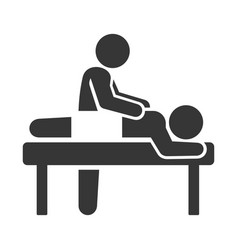 spa massage icon on white background vector image vector image