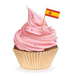 Spanish Cupcake vector image vector image