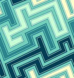 vintage blue curve seamless pattern vector image