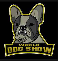 world dog show logo vector image