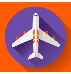 Airplane delivery icon Flat design style vector image vector image