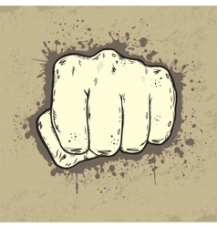 Beautifull of fist in grunge style vector image