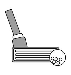 color silhouette cartoon closeup golf club and vector image