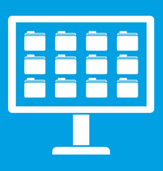 desktop of computer with folders icon white vector image vector image