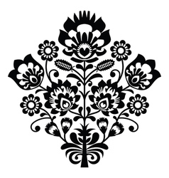 Traditional polish folk pattern in black and white vector image vector image