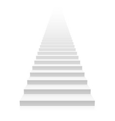 white straight staircase stretches to infinity vector image vector image