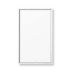 3d realistic vertical white wooden simple vector image