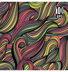 Abstract multicolor hand-drawn waves texture wavy vector image